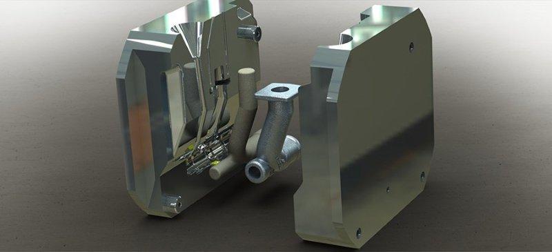 Molde para injeção de alumínio